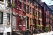 NEW YORK CITY 2013 - Historic row houses on Gay Street in Greenwich Village, New York City taken in the summer of 2012. This street is a famous iconic landmark for the gay and lesbian community.